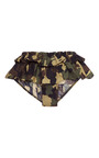 M'o Exclusive: Ruffled Camouflage Brief by HARVEY FAIRCLOTH Now Available on Moda Operandi