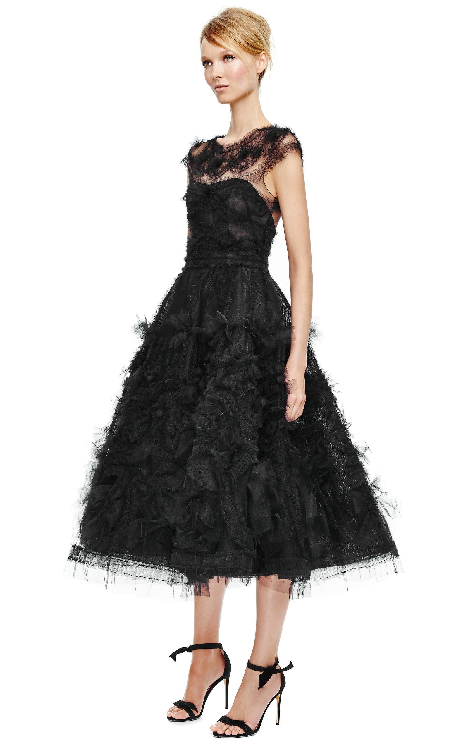 Corseted Tulle Full Skirt Cocktail Dress by Marchesa | Moda Operandi
