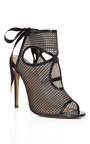 Sexy Thing Patent Leather And Mesh Ankle Boots by AQUAZZURA Now Available on Moda Operandi