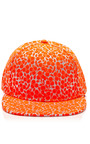 Embroidered Fluorescent Cap by JOSHUA SANDERS Now Available on Moda Operandi