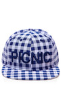 Embroidered Plaid Cap by JOSHUA SANDERS Now Available on Moda Operandi