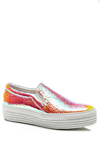 Hologram Vipera Bianco Sneakers With Double Sole by JOSHUA SANDERS Now Available on Moda Operandi