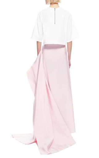 Silk Faille Draped Back Maxi Skirt by ROSIE ASSOULIN Now Available on Moda Operandi