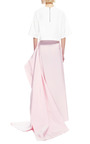 Silk Faille Draped Back Maxi Skirt by ROSIE ASSOULIN Now Available on Moda Operandi