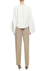 Pearlescent Textured Cotton Top by ROSIE ASSOULIN Now Available on Moda Operandi