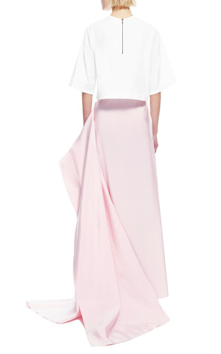 Cropped Cotton Poplin Top by ROSIE ASSOULIN Now Available on Moda Operandi