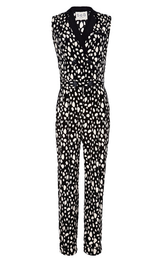 Medium sea black rock leopard jumpsuit
