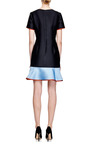 Flared Hem Doubleface Jacquard Dress by OSTWALD HELGASON Now Available on Moda Operandi
