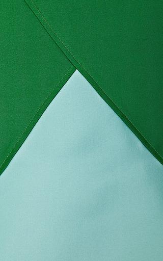 Flared Hem Doubleface Jacquard Skirt by OSTWALD HELGASON Now Available on Moda Operandi