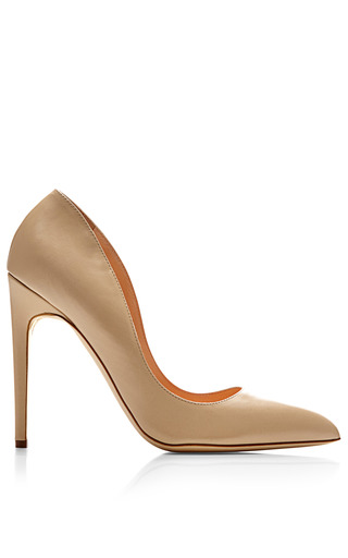 Medium rupert sanderson brown elba leather pumps