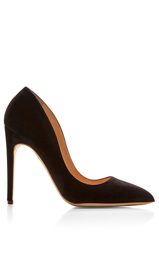 Medium rupert sanderson black elba suede pumps