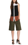 Cotton And Leather Color Block Shirt by JOSH GOOT Now Available on Moda Operandi