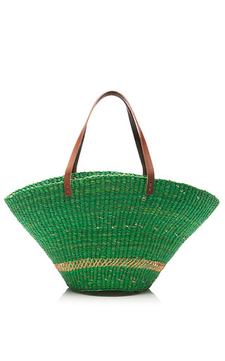 Medium muun tan wide bream straw tote