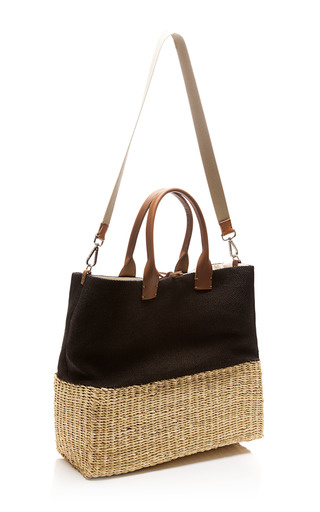 Stripe Straw Tote by MUUN Now Available on Moda Operandi