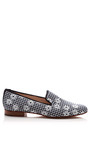 Daisy Embroidered Cotton Loafers by PERTINI Now Available on Moda Operandi