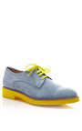 Cap Toe Brogue With Contrast Sole by PERTINI Now Available on Moda Operandi