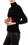 Hand Beaded Framed Satin Clutch by SARAH'S BAG Now Available on Moda Operandi