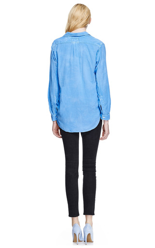 Prep School Cotton Shirt by CURRENT/ELLIOTT Now Available on Moda Operandi