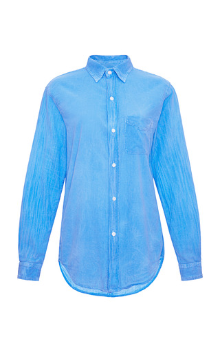 Medium current elliott blue prep school cotton shirt