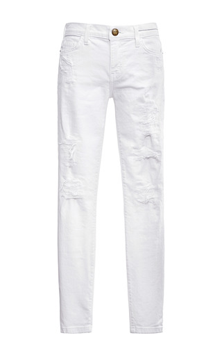 Medium current elliott white the stiletto distressed jeans