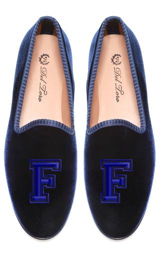 Medium del toro blue customizable varsity navy loafer