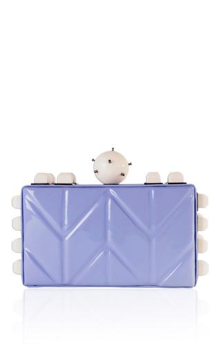 Killer Lilac Clutch by TONYA HAWKES for Preorder on Moda Operandi