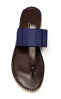 Grosgrain And Leather Thong Sandals by ESCADRILLE Now Available on Moda Operandi