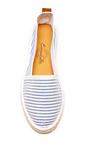 Striped Seersucker Espadrilles by ESCADRILLE Now Available on Moda Operandi