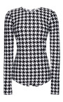 Houndstooth Long Sleeve Swimsuit by COVER SWIM X GLASS for Preorder on Moda Operandi