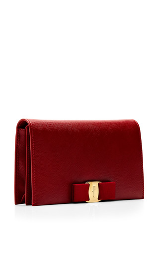 Miss Vara Bow Clip Leather Clutch by SALVATORE FERRAGAMO Now Available on Moda Operandi