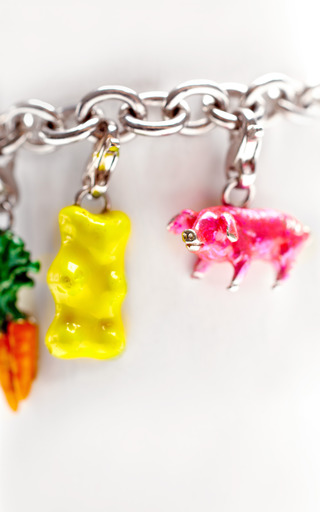 Silver Charm Bracelet With Crest by M DE PHOCAS for Preorder on Moda Operandi