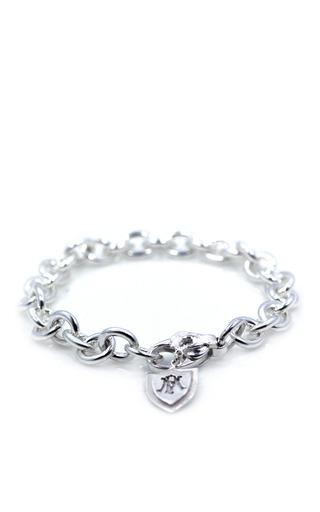 Medium m de phocas silver silver charm bracelet with crest
