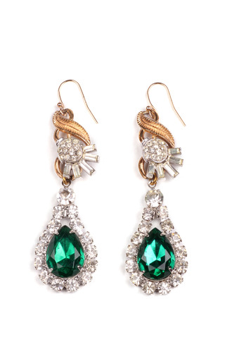 Medium lulu frost green 100 year collection one of a kind crystal drop earrings