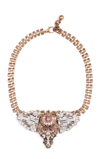 Medium lulu frost gold 50 year necklace featuring vintage parts from 1860 1960 13