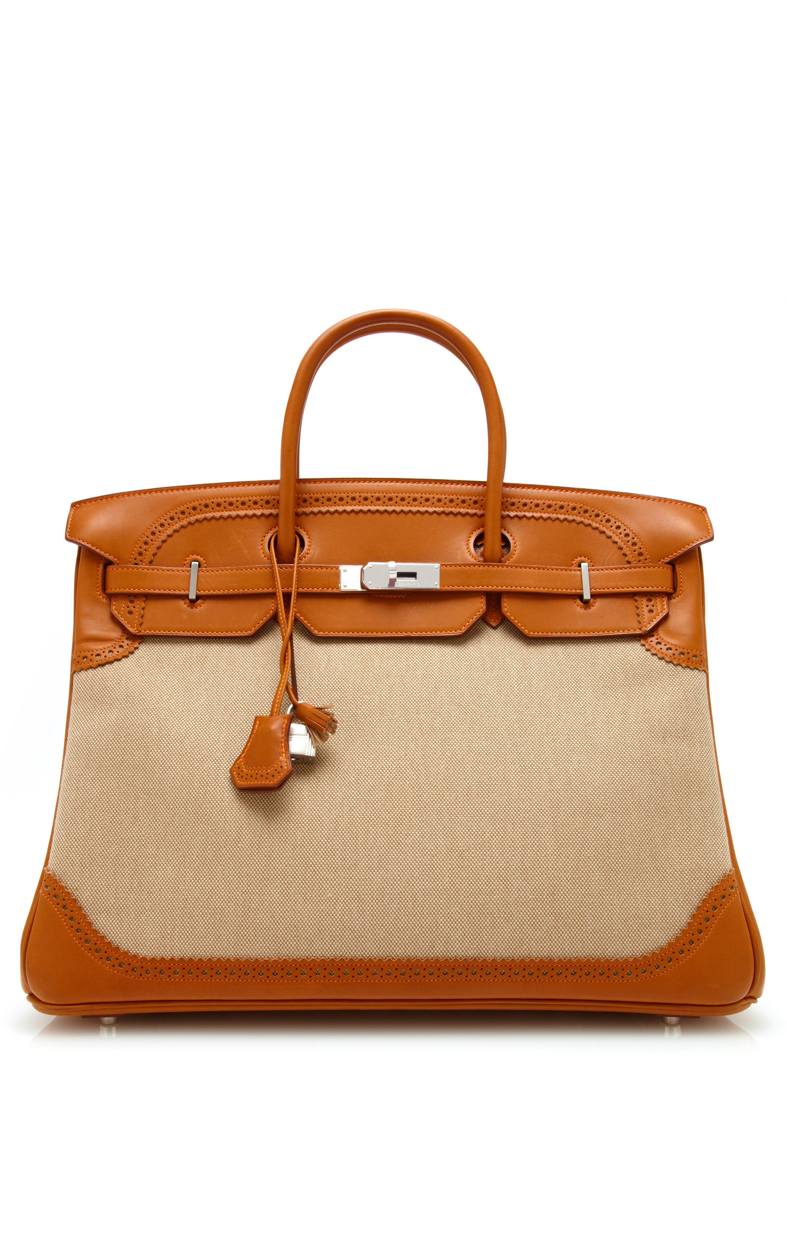 e5c4c3a6e4 Hermes VintageHermes 40Cm Barenia And Toile Ghillies Birkin. CLOSE. Loading