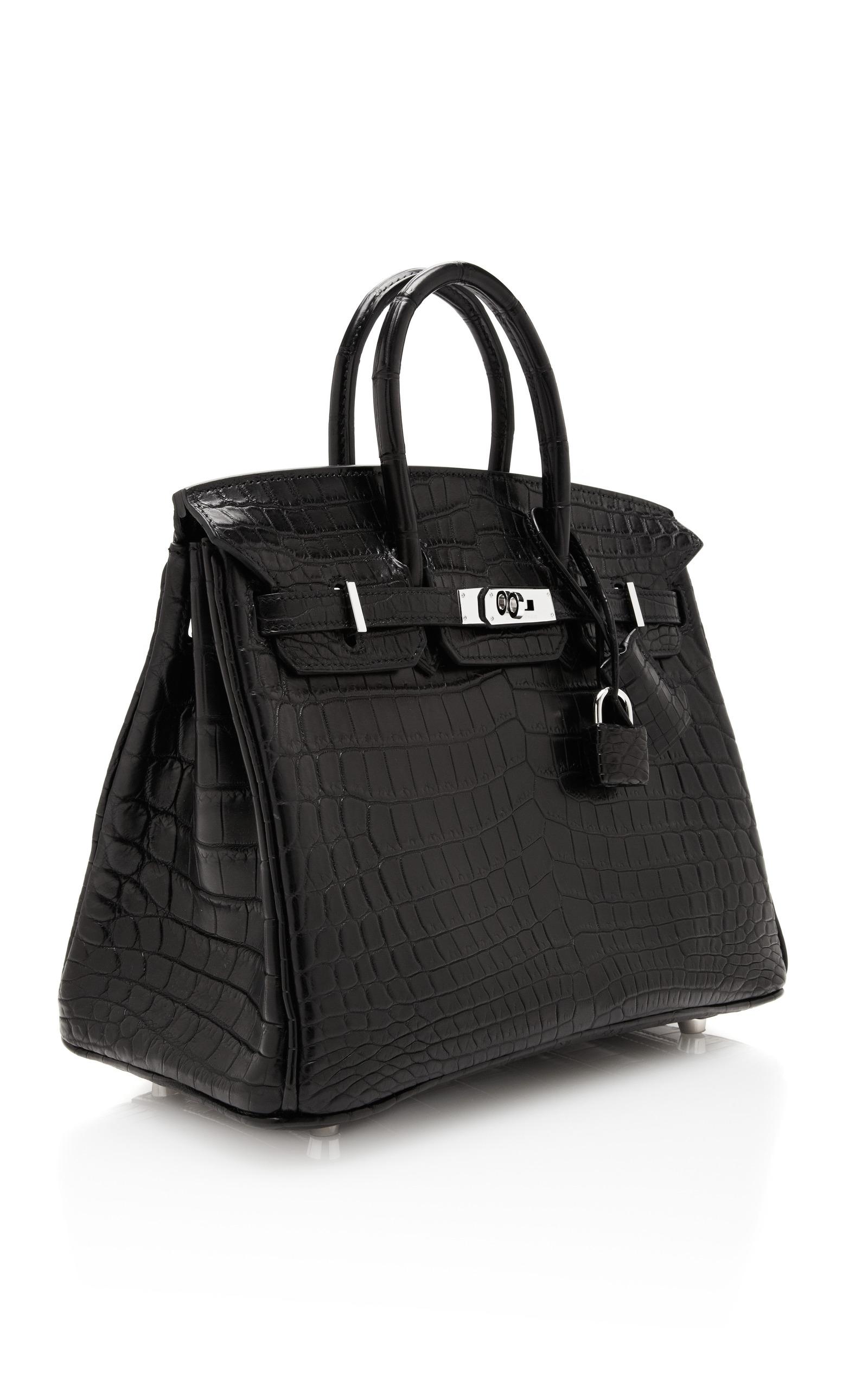 12a0d04c466c Hermes VintageHermes 25Cm Black Matte Nilo Crocodile Birkin. CLOSE. Loading