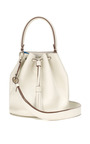 Vaughan Crossbody In White And London Blue Butter Double by ANYA HINDMARCH for Preorder on Moda Operandi