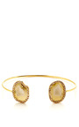 One Of A Kind Light Baby Geode And Diamond Wire Cuff by KIMBERLY MCDONALD for Preorder on Moda Operandi