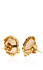 One Of A Kind Neutral Geode And Irregular Diamond Earrings by KIMBERLY MCDONALD for Preorder on Moda Operandi