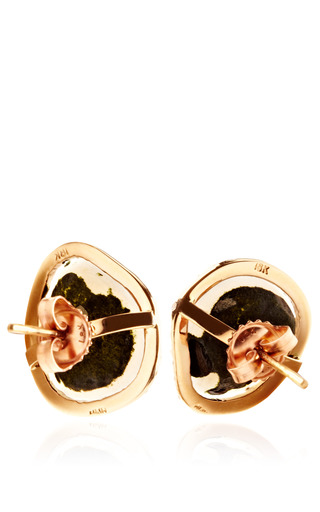 One Of A Kind Translucent Geode And Diamond Earrings by KIMBERLY MCDONALD for Preorder on Moda Operandi
