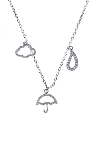 Medium khai khai white cloudy with a chance of rain necklace
