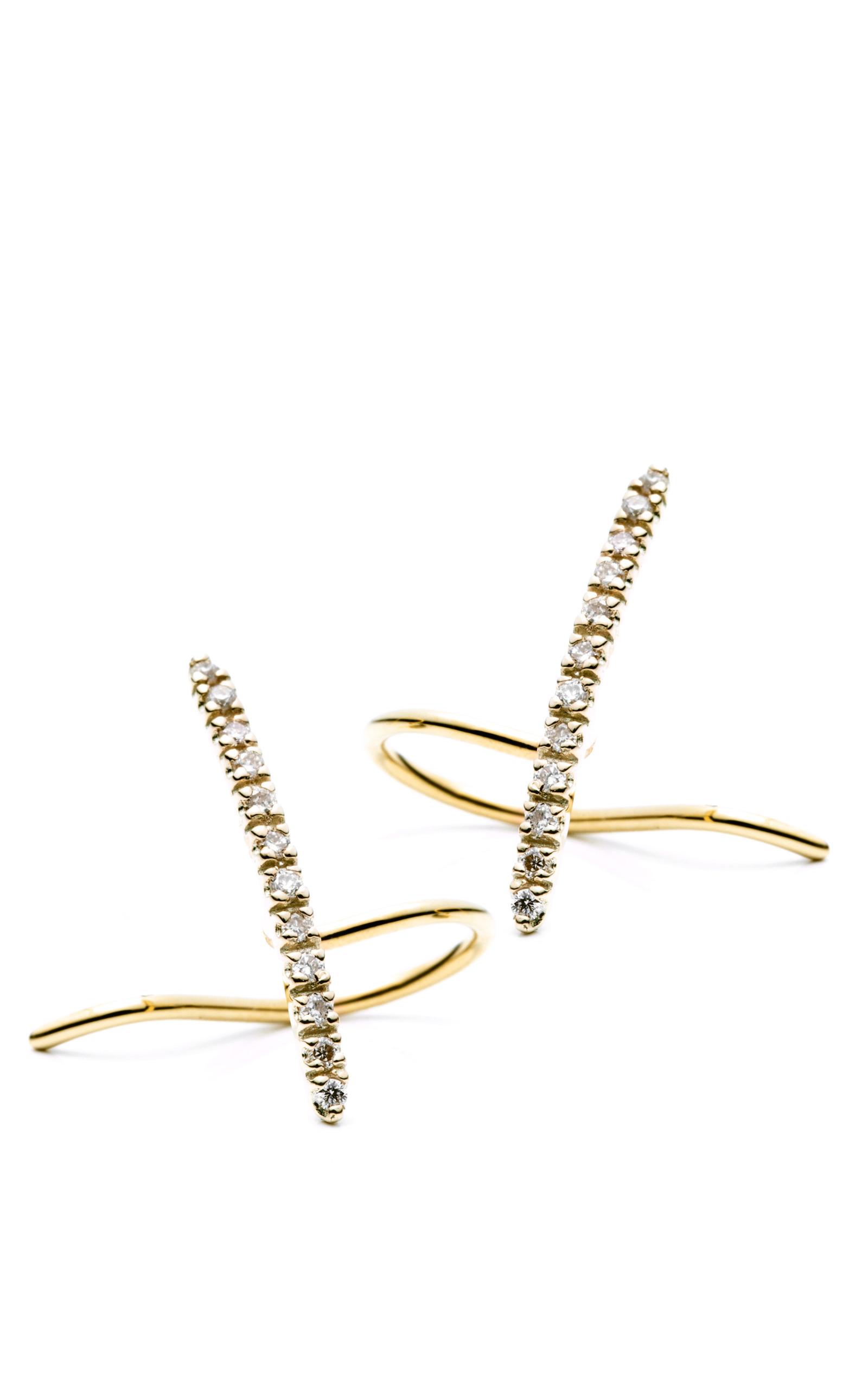 Hirotaka Gossamer Diamond Short Bar Earring 2O7zsIdV