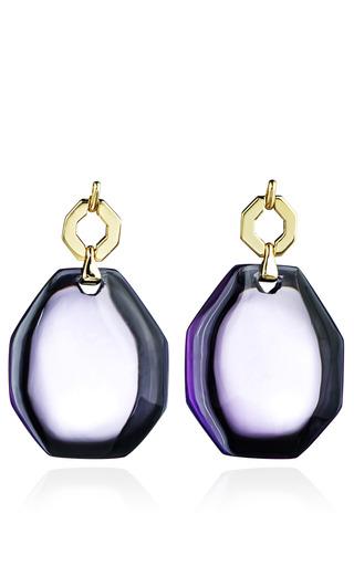 Medium kara ross purple amethyst petra link earrings