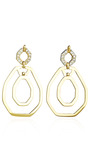 Petra Open Link Earrings by KARA ROSS for Preorder on Moda Operandi
