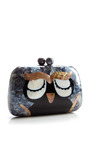 Owl Minaudiere In Mother Of Pearl by SERPUI MARIE for Preorder on Moda Operandi