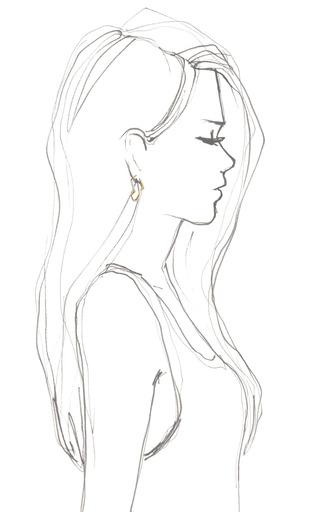 Petra Contour Hoop Earrings by KARA ROSS for Preorder on Moda Operandi