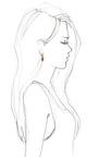 Art Deco Earrings by BIBI VAN DER VELDEN for Preorder on Moda Operandi