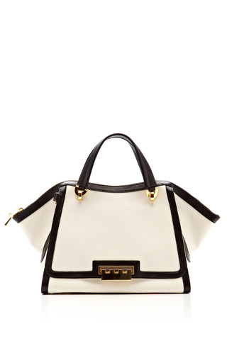 Medium zac posen off white eartha soft double handle