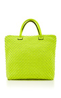 Woven Neoprene Twist Bag by LEGHILA Now Available on Moda Operandi