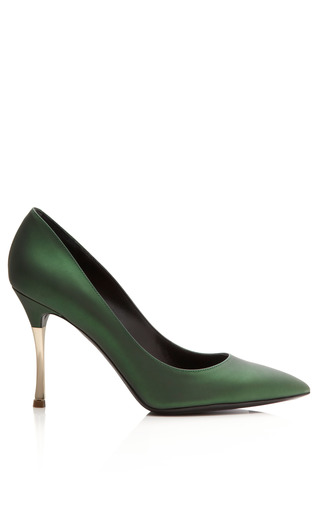 Medium nicholas kirkwood green dark green metallic platino metal heel
